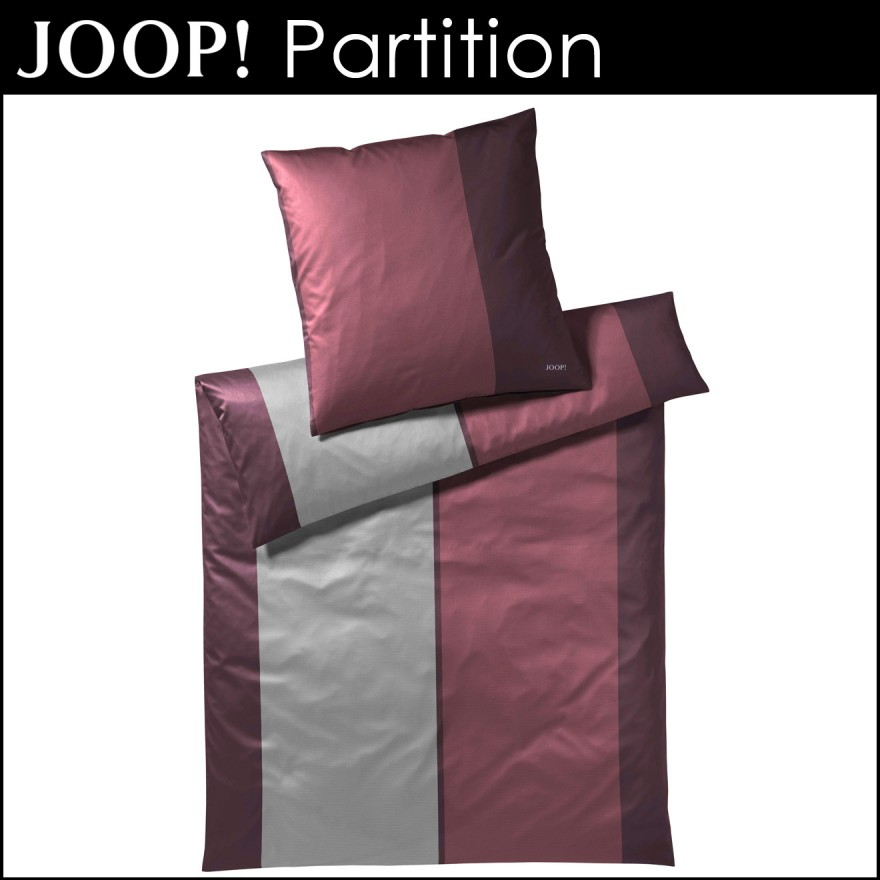 Joop Bettwäsche Partition Maroon 135x200cm80x80cm Centa Star