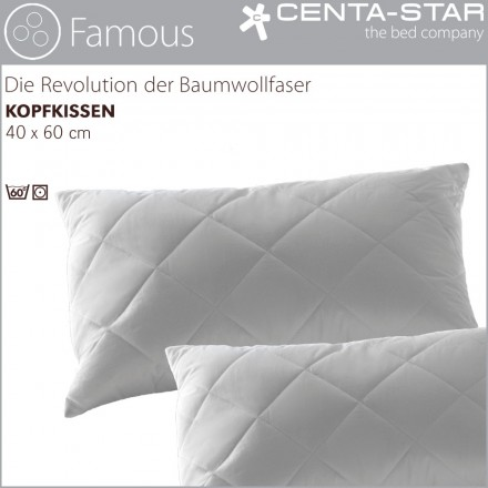 centa star famous kissen 40x60cm 1b ware centa star bettdecken kissen bettw sche laken. Black Bedroom Furniture Sets. Home Design Ideas