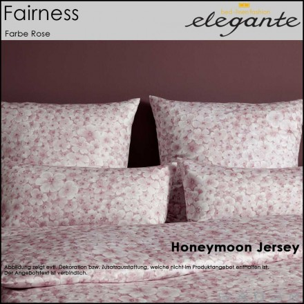 elegante jersey bettw sche fairness rose 135x200 80x80cm centa star bettdecken kissen. Black Bedroom Furniture Sets. Home Design Ideas