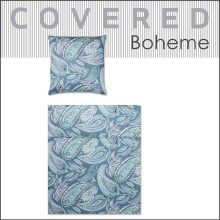 COVERED Mako-Satin Bettwäsche Boheme teal 135x200cm