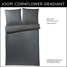JOOP! Mako-Satin Bettwäsche Cornflower Gradiant Graphit 135x200cm