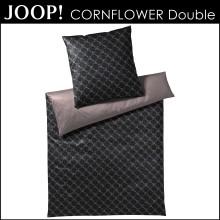 JOOP! Mako-Satin Bettwäsche Cornflower Double Black 155x220cm