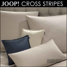 JOOP! Mako-Satin Bettwäsche Cross Stripes Deep Wood 135x200cm