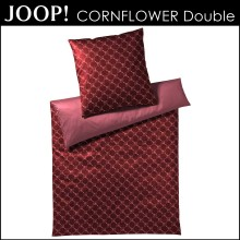 Joop! Mako-Satin Bettwäsche Cornflower Double Red 155x220+80x80cm