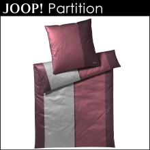Joop! Mako-Satin Bettwäsche Partition Maroon 135x200cm+80x80cm