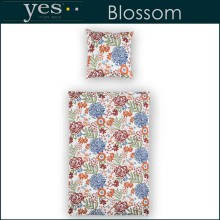 Yes for Bed Mako-Satin Bettwäsche Blossom Rot 135x200+80x80cm
