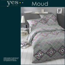 Yes for Bed Mako-Satin Bettwäsche Moud Granat in 155x220+80x80cm