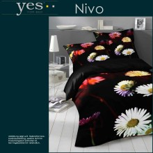 Yes for Bed Mako-Satin Bettwäsche Nivo Black 135x200+80x80cm