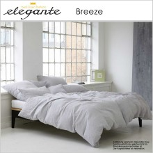 elegante Leinen Bettwäsche Breeze Light Grey 135x200cm