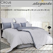 elegante 2Combinate Bettwäsche Circus Graphit 135x200cm