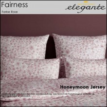 elegante Jersey Bettwäsche Fairness Rose 155x220cm+80x80cm