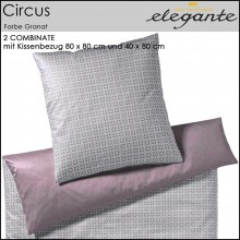 elegante 2Combinate Bettwäsche Circus Granat 135x200cm