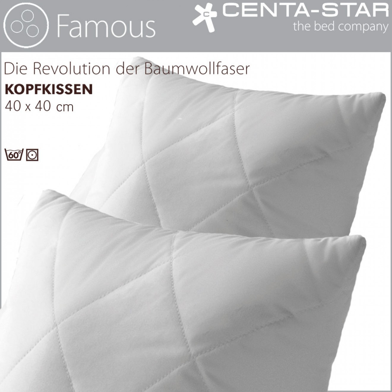 centa star famous kissen 40x40cm 1b ware centa star bettdecken kissen bettw sche g nstig. Black Bedroom Furniture Sets. Home Design Ideas