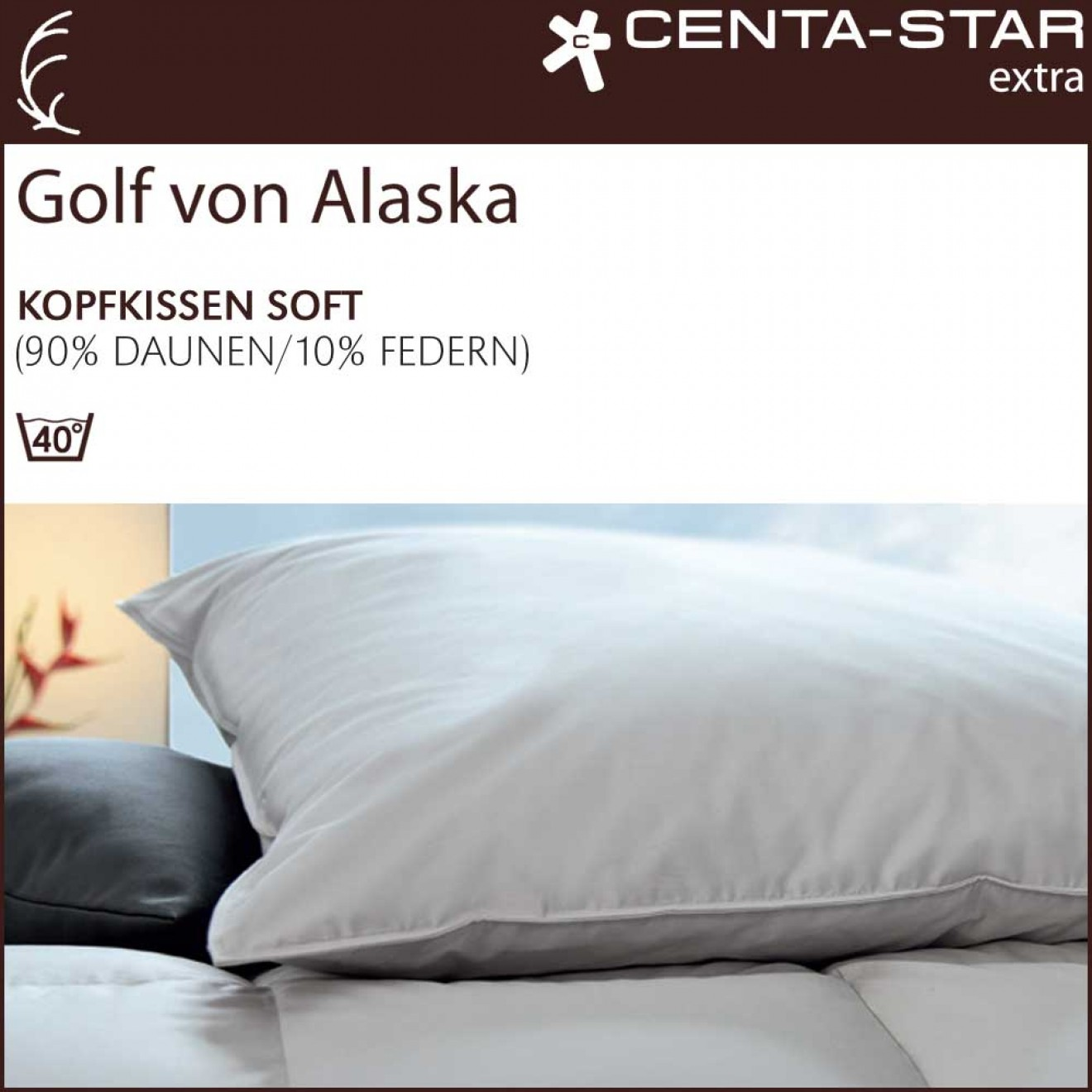 centa star extra golf von alaska kissen 80x80 soft 2 wahl. Black Bedroom Furniture Sets. Home Design Ideas